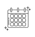 calendar reminder office line icon style vector image