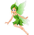 cartoon beautiful flying fairy vector image