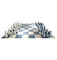chess board and pieces vector image