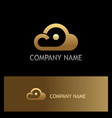cloud point technology logo vector image vector image