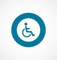 cripple bold blue border circle icon vector image