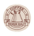 grunge round banner for coffee shop cafe bar vector image vector image