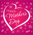 happy mothers day lettering love violet vector image vector image