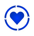 heart turn icon vector image