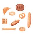 homemade baking freshly baked handmade bread vector image vector image