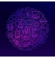 Innovation bright violet vector image