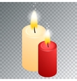 isometric candle with fire animation on vector image