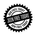 join free today rubber stamp vector image vector image
