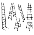 Ladders drawing vector image vector image