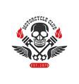 motorcycle club logo est 1979 design element vector image