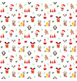 new year and christmas seamless pattern hand vector image vector image