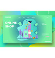 online shop or ecommerce landing page template vector image