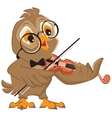Owl plays the violin vector image