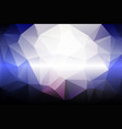 pale pink blue low poly background vector image vector image