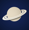 paper planet saturn icon vector image vector image