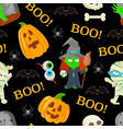 pattern for halloween vector image