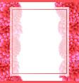 pink dahlia banner card border vector image vector image