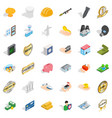 place icons set isometric style vector image vector image
