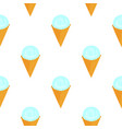 scoop of ice cream in a waffle cone seamless vector image vector image