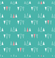 seamless pattern triangles on a mint green vector image vector image