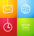Set of 3 simple icons for web use vector image vector image