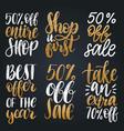set of handwritten sales phrases vector image vector image