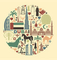 set of icons united arab emirates in the form of a vector image vector image