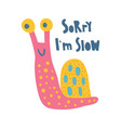 snail slow vector image vector image
