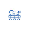 space vehicle line icon concept space vehicle vector image