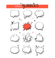 speech bubbles collection - set comic retro vector image