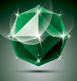 stylish shiny emerald effect eps10 Celebr vector image vector image