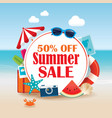 summer sale background banner design template vector image vector image
