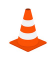 traffic cone road equipment cartoon style vector image vector image