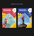 travel flyer template for your business vector image