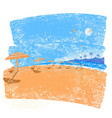 tropical beach seascape background symbol of vector image