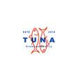 tuna fish logo emblem label seafood icon vector image vector image
