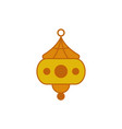 unique chinese hanging lantern graphic design vector image