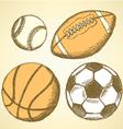 US Football Ball Basket vector image vector image