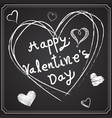 valentine day drawing on blackboard vector image vector image
