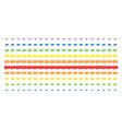 video gpu card shape halftone spectral array vector image vector image