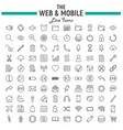 web and mobile line icon set os interface symbols vector image