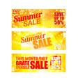 summer sale banners set eps 10 vector image