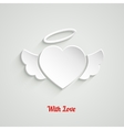 Valentines Day Paper Heart vector image