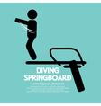 Diving Springboard vector image
