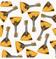 pattern from music instrument balalaika vector image