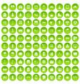 100 video icons set green circle vector image vector image