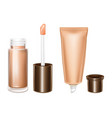3d mockup with cosmetics for lips care vector image vector image