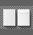 a4 white blank paper envelope letter vertical vector image vector image