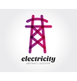 Abstract electricity logo template for vector image vector image