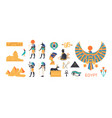 ancient egypt set - gods deities of egyptian vector image vector image
